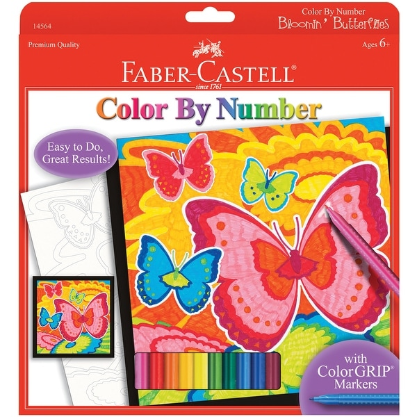 """Color By Number Kit 9""""X9""""-Bloomin' Butterflies"""