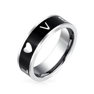 Bling Jewelry Black Enamel Stainless Steel Band Love Friendship Ring|https://ak1.ostkcdn.com/images/products/is/images/direct/476dcc80b7350ac9cf210265976453981b551228/Bling-Jewelry-Black-Enamel-Stainless-Steel-Band-Love-Friendship-Ring.jpg?impolicy=medium