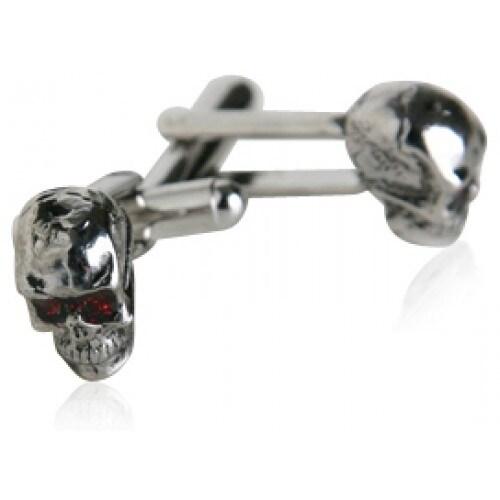 Silver Skull Cufflinks Halloween