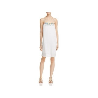 French Connection Womens Melissa Sundress Embroidered Shift