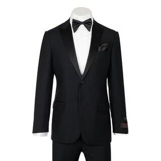 Tufo, Modern Fit, Black, Pure Wool Tuxedo by Tiglio Luxe TIG1001
