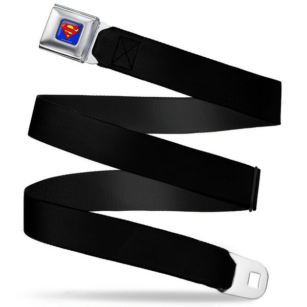 Superman Full Color Blue (W10200) Black Webbing Seatbelt Belt Fashion Belt