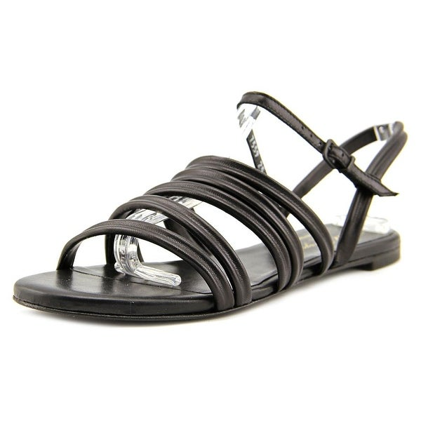 2f4009d143ca Shop Robert Clergerie Gaga Women Open-Toe Leather Black Slingback ...