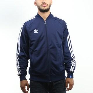 Adidas Originals Three Stripes Trefoil Men's Blue Jacket
