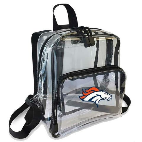 """Northwest NFL Denver Broncos Clear Stadium Approved Mini Backpack X-Ray See-thru - 10"""" x 3"""" x 8"""""""