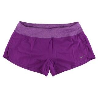 Nike Womens Rival Three Inch Running Shorts Purple - L