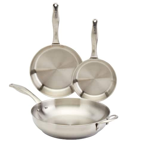 Frigidaire 3PC Stainless Steel Fry Pan Set