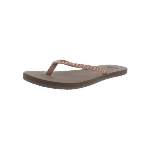 Reef Womens Bliss Embellish Flip-Flops Slip on Flat