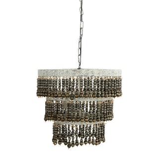 Elegant Rustic Drape Chandelier 6 Light Shades of Light