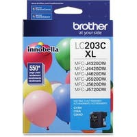 """Brother LC203C Brother Innobella LC203C Ink Cartridge - Cyan - Inkjet - High Yield - 550 Page - 1 Each"""