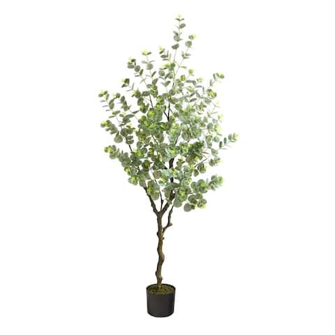 "4.5' Eucalyptus Artificial Tree - 6"""