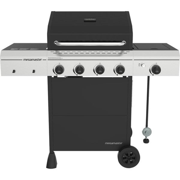 Megamaster 4-Burner Liquid Propane Gas Grill with Side Burner. Opens flyout.