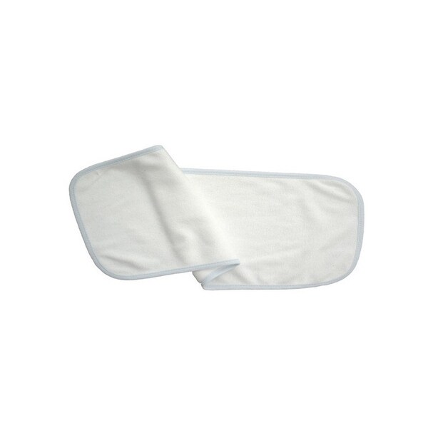 Bambini Baby 2- Ply Terry Burp Cloth White with Blue Trim - 1025WB