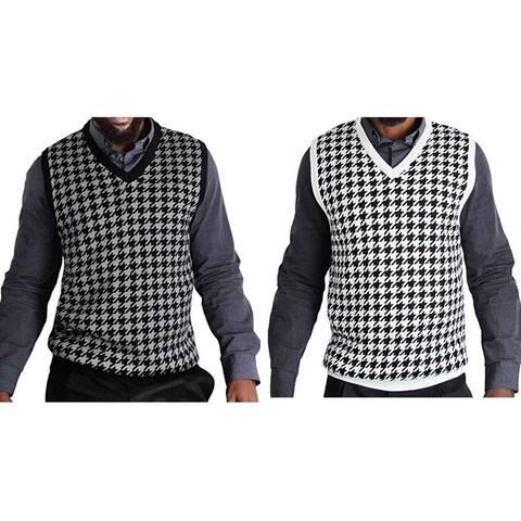 Blue Ocean Jacquard Houndstooth Sweater Vest (SV-777)