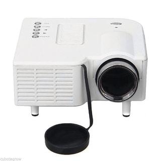 US Mini LED Home Heater Projector VGA USB SD AV HDMI for PC Laptop 127*127*57 mm - White