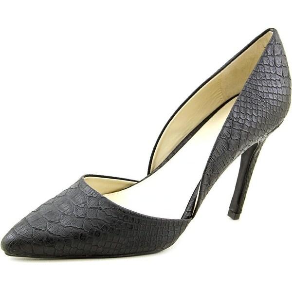 Mia Margy Women Pointed Toe Synthetic Black Heels