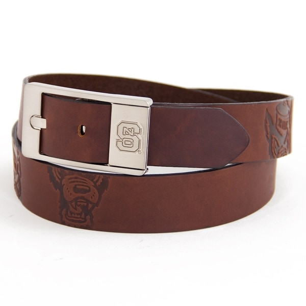 North Carolina State University Brandish Leather Belt