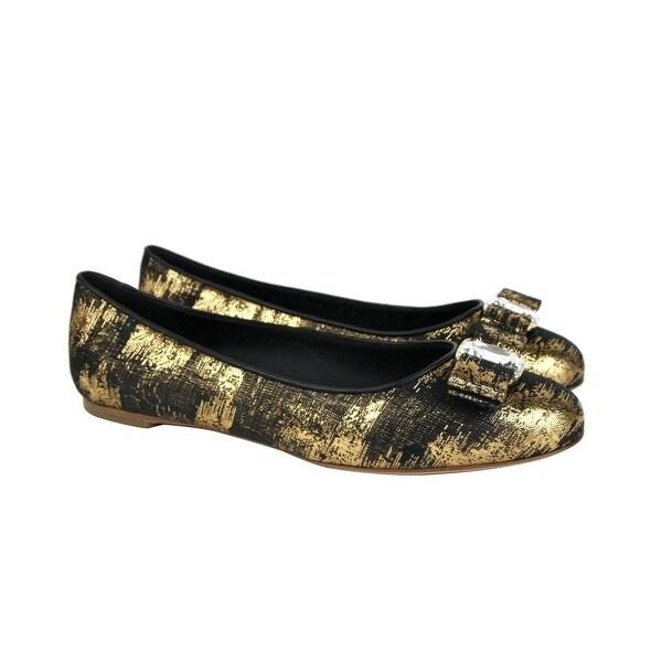 Gold Fabric Ballet Flat 0685485