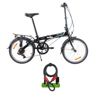 """Dahon Vybe D7 Folding Bike (20"""") with Abus 410 Ultra U-Lock and Cable Lock Kit"""