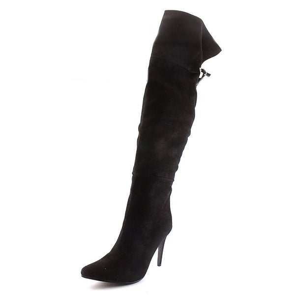 Chinese Laundry Center Stage Women Synthetic Black Over the Knee Boot