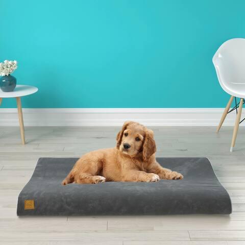 Pup Pup Kitti Bliss Orthopedic Breathable Dog Bed Pillow Mattress Cushion, Grey
