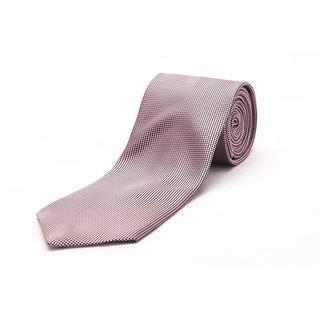 Ermenegildo Zegna Men Slim Silk Neck Tie Pink - One Size