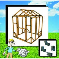 6X6 E-Z Frame Standard Greenhouse or Storage Shed Structure Kit (lumber not included)