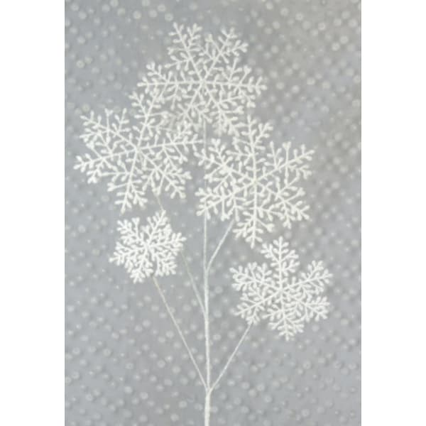 """Pack of 12 Winter Solace White Glittered Snowflake Christmas Floral Sprays 38"""""""