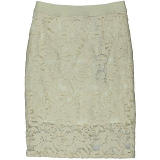 Rebecca Minkoff Womens Angelica Lace Overlay A-Line Pencil Skirt