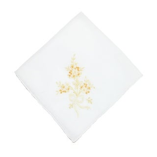 CTM® Women's Cotton Fresh Cut Bouquet Print Handkerchief - One Size