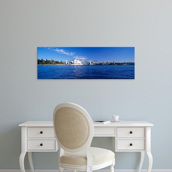 Easy Art Prints Panoramic Image 'Sydney Harbour Bridge, Mrs Macquarie's Point, New South Wales, Australia' Canvas Art