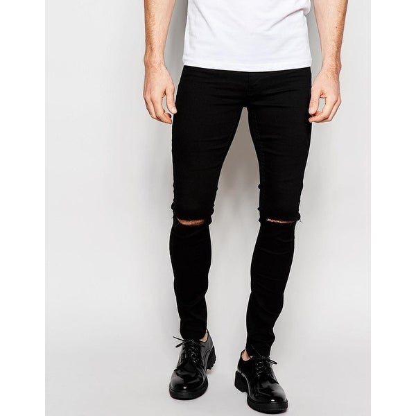 4e5a307a026 Shop BLANKNYC Men s Ripped Knee Skinny Black Jeans Size 30