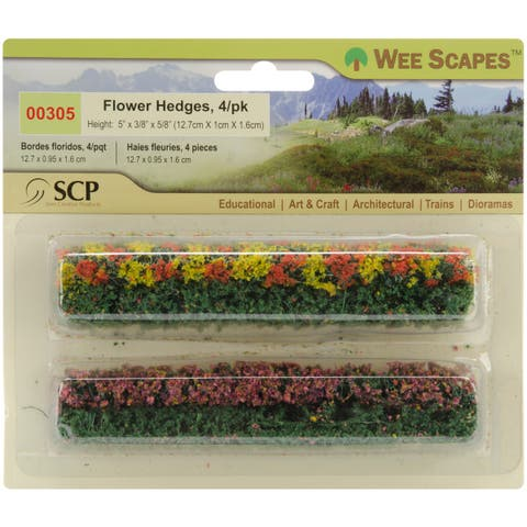 "Flower Hedges 5""X.375""X.625"" 4/Pkg- - Green"