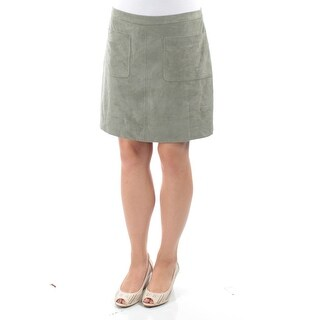 VINCE CAMUTO Womens New 1229 Green Above The Knee A-Line Skirt 8 B+B