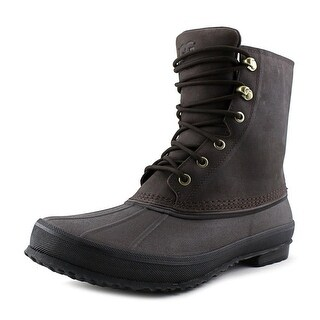 UGG Collection Yucca Men Round Toe Leather Brown Snow Boot