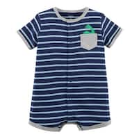 Carter's Baby Boys' Striped Snap-Up Cotton Romper