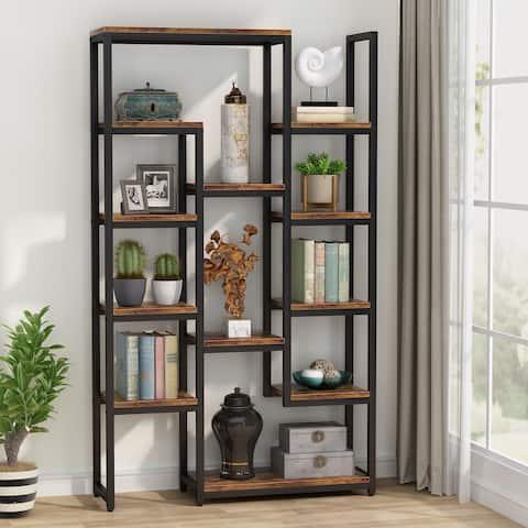 6-Tier Bookshelf 70.9 inch Tall Bookcase, 12-Shelf Industrial Display Shelves