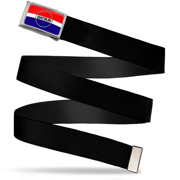 Classic Datsun Logo Stripe Fcg Red White Blue Black Chrome Black Web Belt