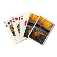Yellowstone Park - Yellow Sky - LP Photography (Poker Playing Cards Deck)