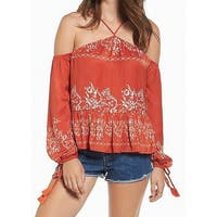 Tularosa Women's Small Cold Shoulder Floral Blouse