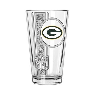 Green Bay Packers 16oz Etched Decal Pint Glass