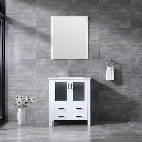 Lexora Volez 30 inch single Bathroom Vanity Countertop Sink With Mirror