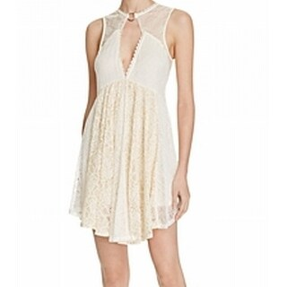 Free People NEW White Ivory Womens Size Small S Lace A-Line Dress