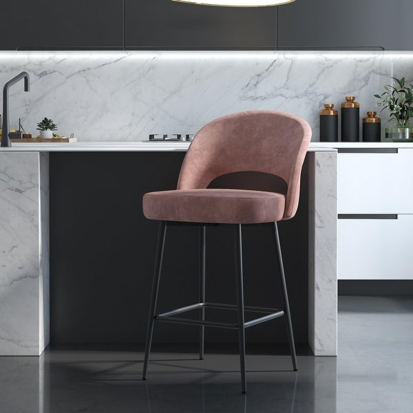 CosmoLiving Alexi Upholstered Counter Stool. Opens flyout.