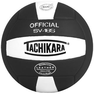 Tachikara SV18S Composite Leather Volleyball (Black/White)
