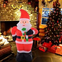 Costway 4 Ft Airblown Inflatable Christmas Xmas Santa Claus Decoration Lawn Yard Outdoor