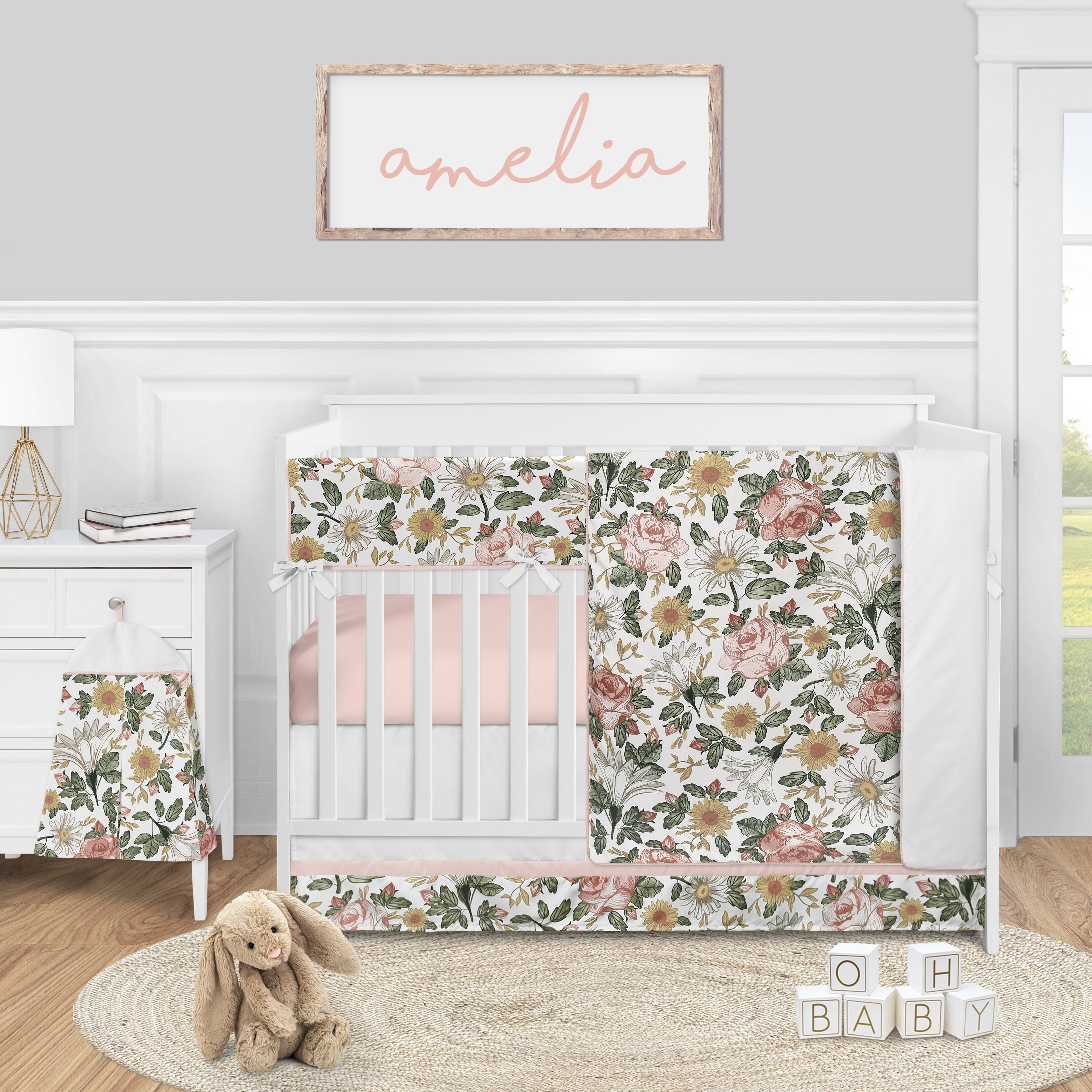 5pc Nursery Crib Bedding
