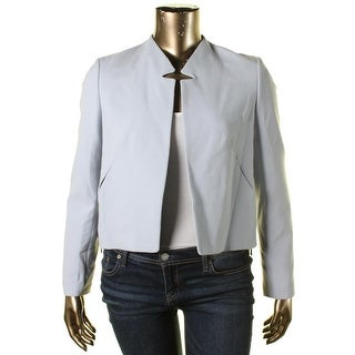 Rachel Rachel Roy Womens Ponte Notch Collar Crop Blazer