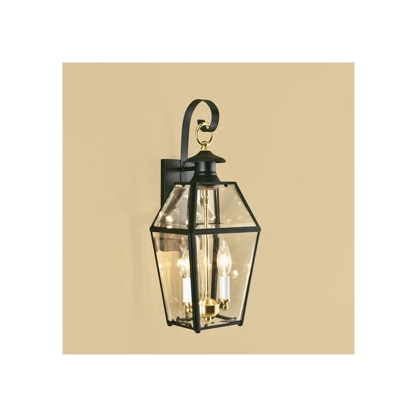 "Norwell Lighting 1066 Old Colony 2-Light 17"" Tall Outdoor Wall Sconce with Clear Glass Shade - N/A"