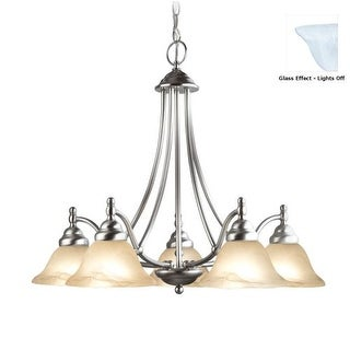 Woodbridge Lighting 12086-STN 5 Light Down Light Single Tier Chandelier from the Anson Collection - Grey